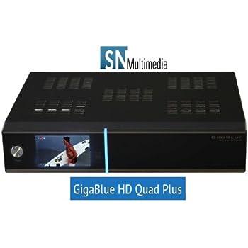 GigaBlue HD Quad PLUS 2x DVB-S2 HDTV Linux HbbTV LAN Sat Receiver mit Farbdisplay
