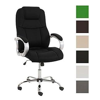 CLP Silla de escritorio XXL APOLL, con un peso máximo de 210 kg, con acolchado grueso en respaldo y asiento, tapizada en piel sintética, asiento ergonómico, función de balanceo, hasta 6 colores diferentes a elegir,