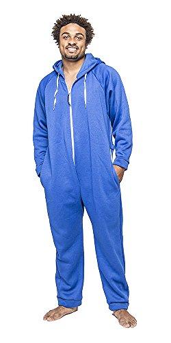 Forever Lazy Unisex Schwergewicht für Erwachsene Einteiler Blau - Blau