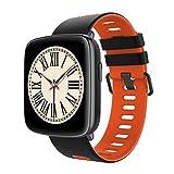 JinYiZhaoMing GV68 Smartwatch mit Herzfrequenzmesser, wasserdicht, mit Schrittzähler, Stoppuhr, Musikwecker, rot
