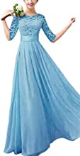 toyobuy Mujer Media Manga Elegante de largo vestido de dama de honor vestido