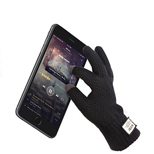 Preisvergleich Produktbild Inovey Winter Herbst Männer Gestrickte Radfahren Handschuhe Touchscreen Männlich Verdicken Warme Wolle Cashmere Solide Handschuhe Business Handschuh