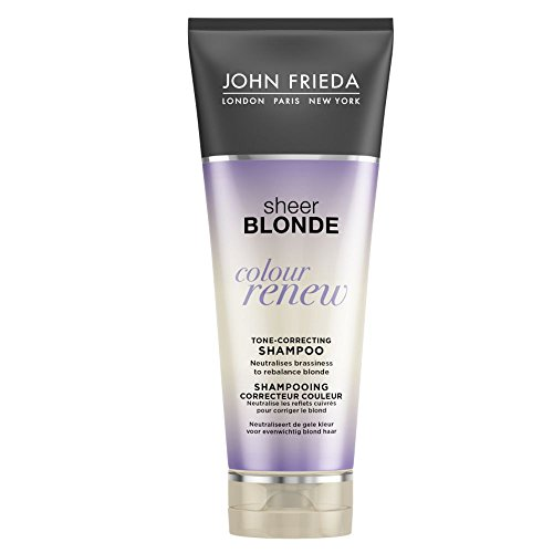 JOHN FRIEDA Sheer Blonde Shampooing Correcteur Couleur Colour Renew 250 ml - Lot de 4