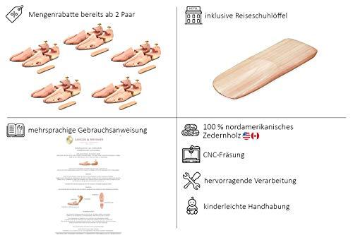 414%2BDR 5DHL - Langer & Messmer, Hormas para zapatos de madera de cedro, tamaño 44/45, el original