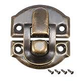 10 Stk. Kofferverschluss, Retro Stil Schmuck Holzkisten Verschluss w Schrauben DE
