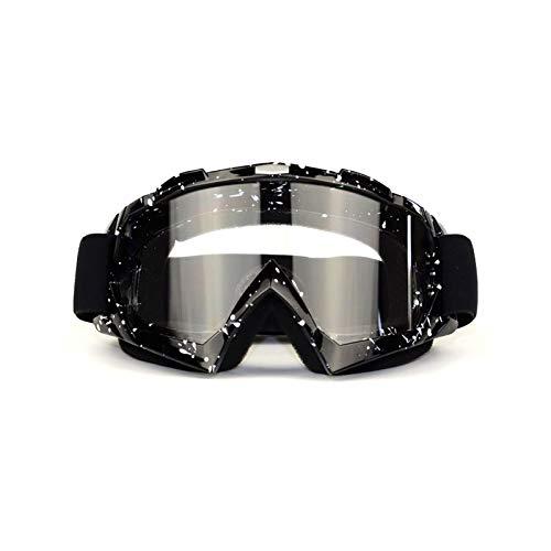 DOLOVE Skibrille Winddicht Sportbrille Polarisiert Schutzbrille Beschlagfrei Schwarz Weiß Durchsichtig