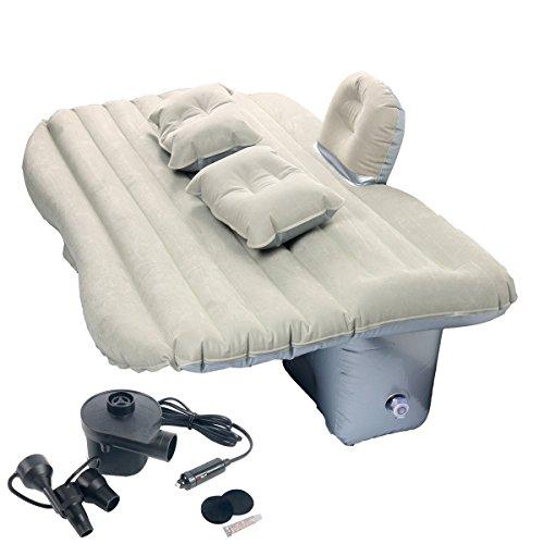 FreeTec Auto Luftmatratze Bewegliche Luftbett Rücksitz Couch mit Baffle für Reisen Camping Outdoor Aktivitäten SUV, Limousinen und Trucks, PVC(Grau)