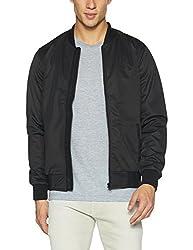 Peter England Mens Fit Jacket (8907696020560_EJK51709009_Large_Blacksolid)