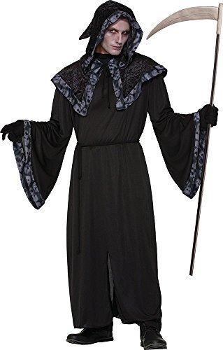 Herren Reaper Herren lange Tunika Halloween Horror Kostüm SPIRITUOSEN + Souls Robe - Multi, One size (Spirituosen Halloween)
