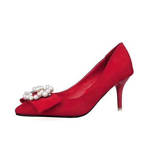 aalardom-womens-pull-on-pointed-toe-flock-spikes-stilettos-pumps-shoes-with-gem-red-jewels-38