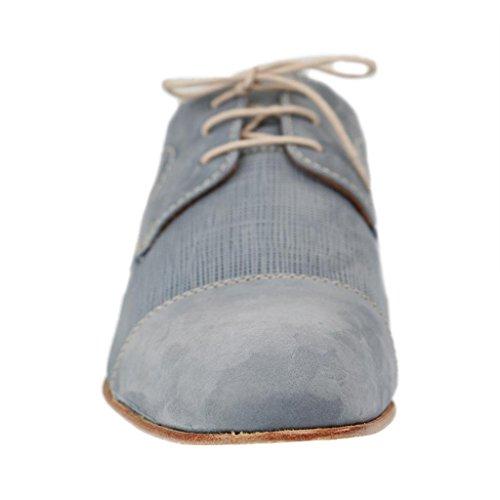 MANZ - 141018 - Herren Halbschuhe - Blau Schuhe in Übergrößen Blau