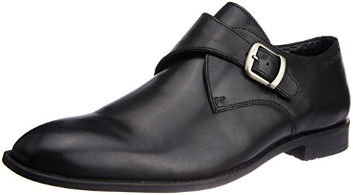 Hush Puppies Men's Vito-Monk Strap Black Leather Formal Shoes - 9 UK/India (43 EU)(8546916)