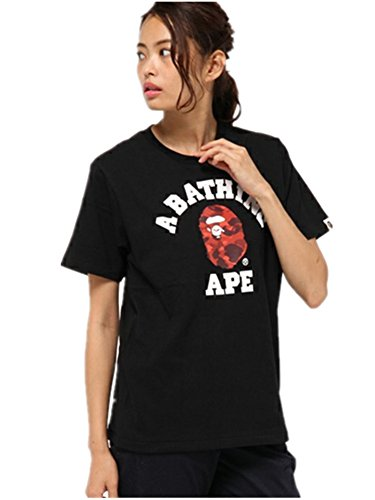 BOMOVO Herren BAPE T-Shirt Housemark Graphic Tee Schwarz