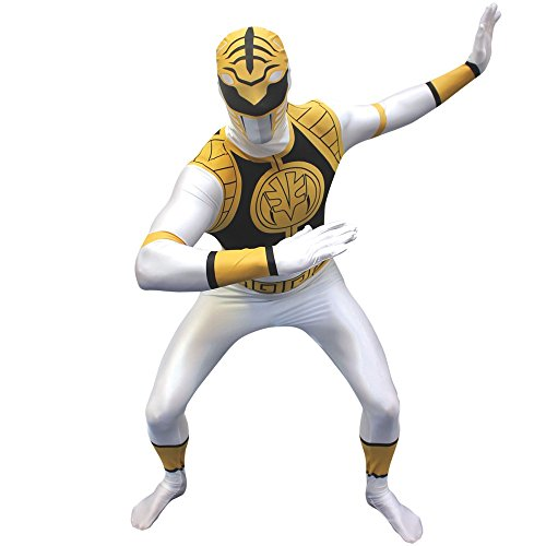 White Power Ranger Kostüm (Kostüm Ranger Power Weiß)