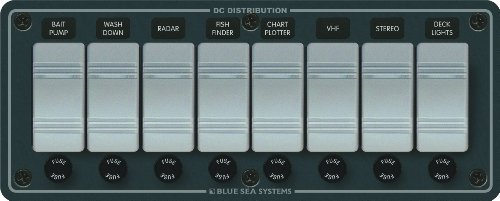 Contura Water Resistant 12V DC Panel - 8 Position by Blue Sea Systems 12 Position Panel