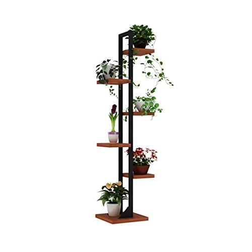 Jxjjd fioriera in ferro multistrato, pianta da balcone in legno massello per pavimento interno, portapiatti multifunzione 143 cm h (colore : a)