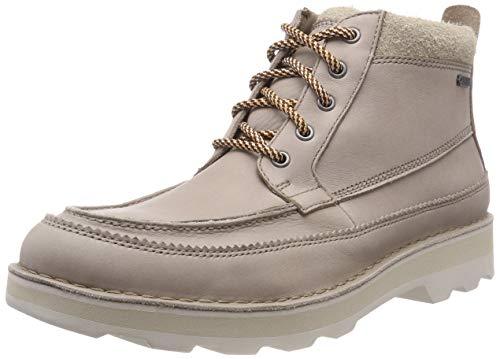 Clarks Herren Korik Rise GTX Chelsea Boots, Grau (Desert Leather), 46 EU