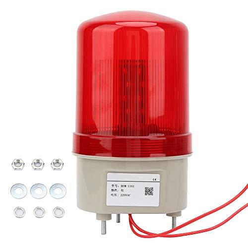 220VAC Rotierendes Blinklicht Rote LED-Warnleuchte Industrielles Signal Warnlampe97mm Durchmesser Strobe Assembly