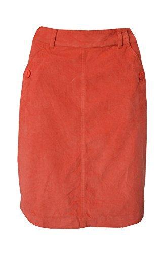 Seasalt EX taille 8-16 bleu canard étable rouge tout déversement lignes Velours Côtelé Velours Côtelé jupe - étable Rouge, 8