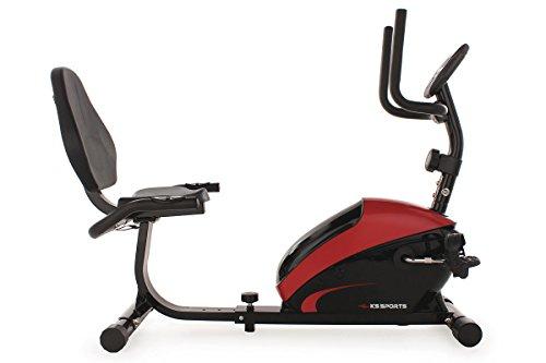 KS Cycling Fitnessgerät Recumbent Bike KS Sports Rot