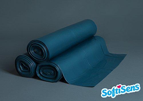 "500 blaue Müllsäcke ""Typ 60"" 120 Liter, Müllsack Abfallbeutel Mülltüten Abfallsack"