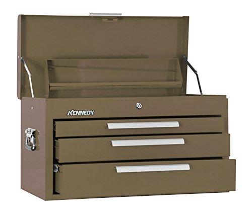 Kennedy Verarbeitung 263B 66cm 3Schubladen Mechanik 'Brust mit Tablett, Tan Braun - Rubbermaid Schublade Organizer