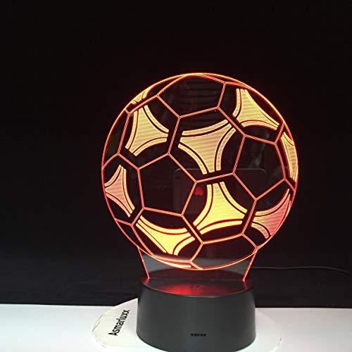 . Deal Football Soccer 3D Lampe Visuelle Lichteffekt Nachtlampe Touch Schalter Farbwechsel LED Nachtlicht Lampe Für Kinder