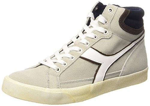 Diadora Condor FL, Sneaker Alte Unisex - Adulto Bianco/Chicco Di Caffe
