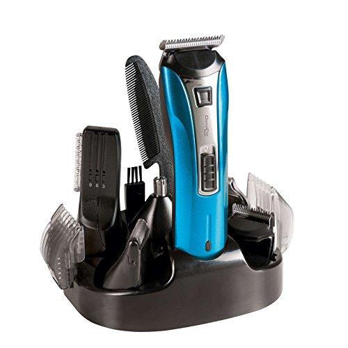 électrique Tondeuse nez tondeuse cheveux barbe tondeuse à cheveux épilateur (6 têtes, rasoir, lames en acier inoxydable, batterie, chargeur)