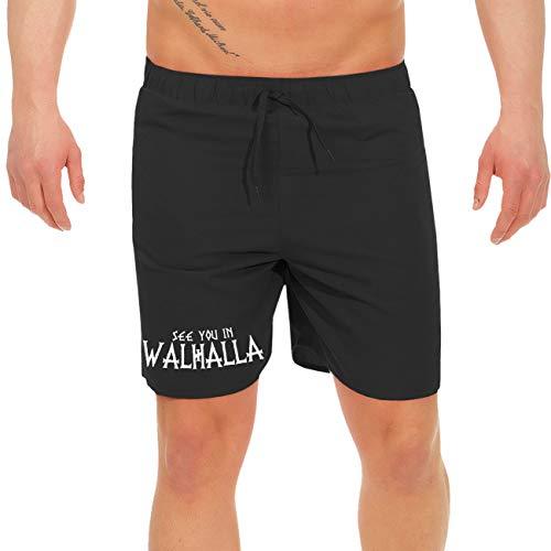 SONS OF ODIN Männer und Herren Badehose Swim Shorts Wikinger See You in Walhalla Größe M bis 3XL