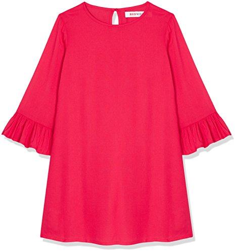 RED WAGON Mädchen Kleid mit Rüschen, Rosa (Virtual Pink), 152 (Herstellergröße: 12 Jahre) (Kleid Rosa Kinder)