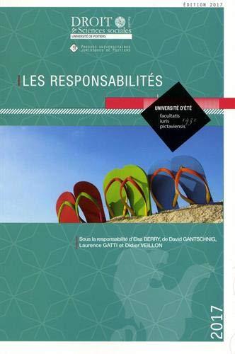 Les responsabilités : Université d'été par Collectif