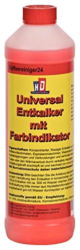 Kaffeereiniger24 – 750ml qualitativer Flüssig-Entkalker mit praktischem Farbindikator |...