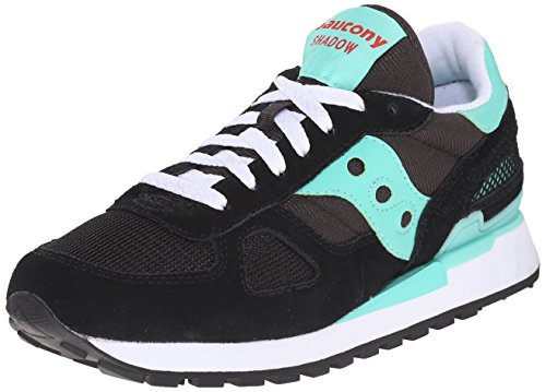 Saucony Shadow Original Scarpe Low-Top, Donna, Nero (Black/Aqua), 37