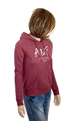 Abercrombie & Fitch Damen Woman Girl Hoodie Sweatshirt Shirt Kapuze langarm rot...