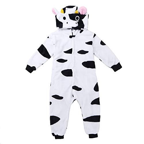 f51f48c26a dpois Pigiama Cow Cow PILE flanella scimmia del ragazzo della ragazza  unisex con cappuccio Animal Costume
