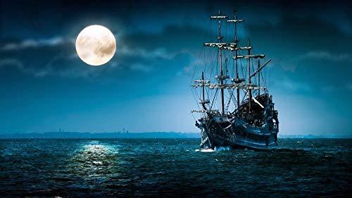 Nacht Wasser (HCYEFG Puzzle Puzzles 1000 Teile Nacht Abend Dämmerung Wasser Meer Ozean DIY Art Für Erwachsene Erwachsene)