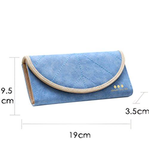 Coface Portafoglio donna Frosted Fogliame busta tre volte borsa lunga Blue