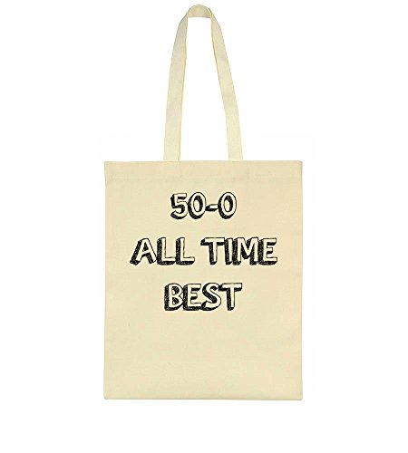 50-0 All Time Best Legendary Fighter No Fights Lost Stencil Art Tote Bag
