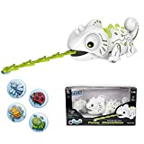 KOBWA Elektronische Smart Chameleon Roboter Spielzeug Fernbedienung Chameleon Beleuchtung Pet Spielzeug für Kinder Mädchen Jungen, Essen Dinge Funktion, Geschenke für Kinder
