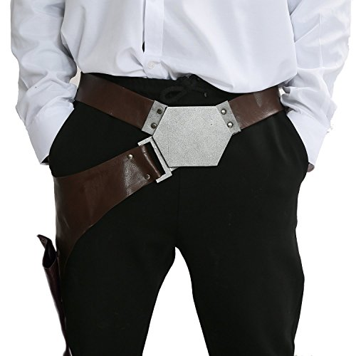 Solo Kostüm Cosplay Han - Cosplay Han Solo Kostüm Herren Gürtelholster PU Leder Ankleiden Erwachsene Kleidung Replik Prop