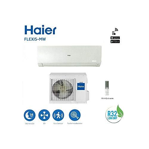 Haier FLEXIS-MW 18000 btu R-32 Klasse A++ AS50S2SF1FA-MB WHITE Wi-Fi - NEW Haier 32