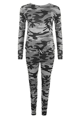 YOU PLUS - Survêtement - Femme Full-Grey-Camo
