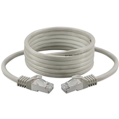 Cable de conexión, Cat, 6, S/FTP, PiMF, sin halógenos 250mhz para Streaming/IPTV/reproductores de medios/receptores de satélite/servidores/Desktops PC/Super Fast Ethernet de red Cable con oro Pin Conectores