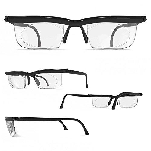 Adlens Brille mit Dioptrien individuell einstellbar unisex Lesebrille Lesehilfe Sehhilfe