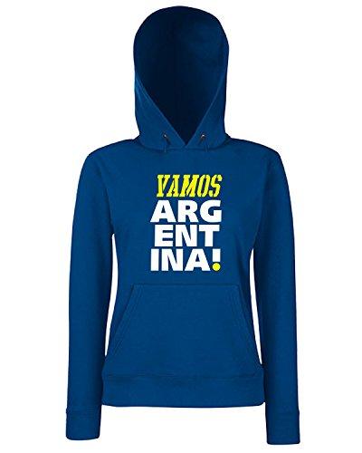 T-Shirtshock - Sweats a capuche Femme T0699 vamos argentina calcio ultras Bleu Navy