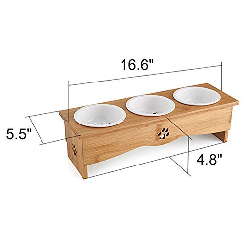 Da-Jia-Inc-Solid-Bamboo-Elevated-Pet-Dinner-Feeder-for-Small-Dogs-and-Cats-Raised-Stand-with-Three-Ceramic-Bowls
