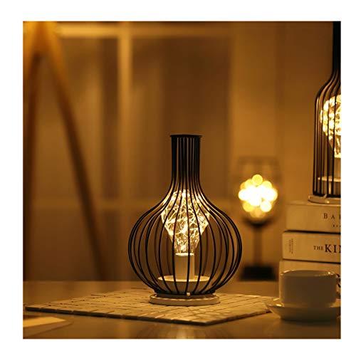 YLET Kreative Laternen Ins Mädchen Herz Schmiedeeisen Weinglas Rotwein Flasche Vase Geschenk Dekoration Lampe Led Nachtlicht, Decanter (Baby-flasche-vase)