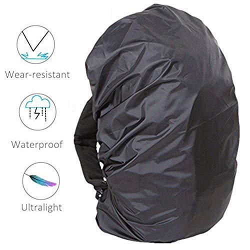 JS-YHLUSI Schutzhülle, Draussen Rucksäcke Reisegepäck Rucksack Staubschutz (Upgrade), Wasserdicht Anti-UV, Passend für Camping Reise,Black,30~40L -