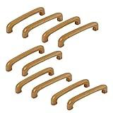 10Stk Möbel Griffe Tür Kabinet Kleiderschrank Schraube Montage Holz Griff DE